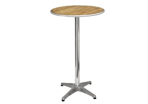 HorecaTraders Bar table with round top 60 cm