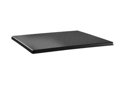 HorecaTraders Tischplatte rechteckig | Anthrazit 2 Formate