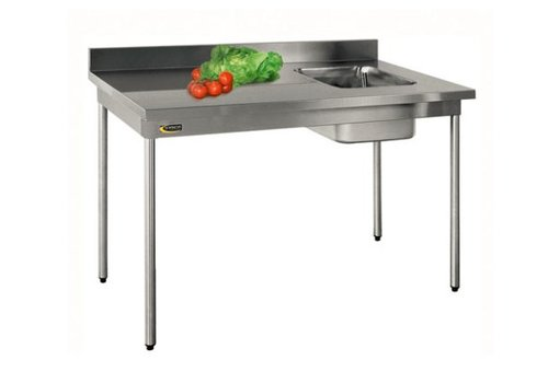 HorecaTraders Sink of AISI 304L stainless steel | Sink Right 3 formats