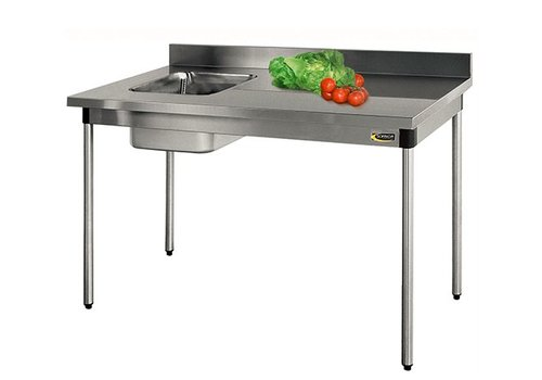 HorecaTraders Sink of AISI 304L stainless steel | Sink Left | 3 formats