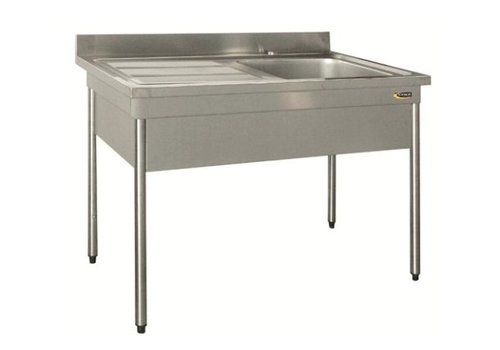 HorecaTraders Stainless steel Sink AISI 304L stainless steel | 2 formats