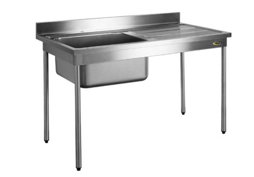 HorecaTraders HorecaTraders stainless steel Sink table without sink cover | 70 cm wide 3 formats
