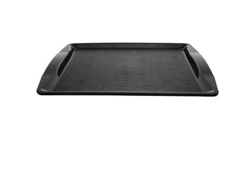 HorecaTraders Fastfood-Tablett schwarz