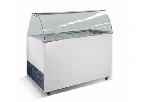 HorecaTraders Schepijsvitrine met 8 ijsbakken | 118x72x123 cm
