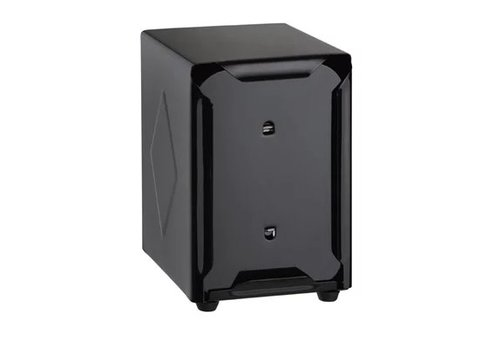 HorecaTraders Napkin dispenser | Stainless steel | Black