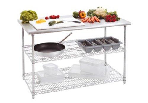 Bartscher Workbench with stainless steel worktop | 130 x 70 x 90 cm