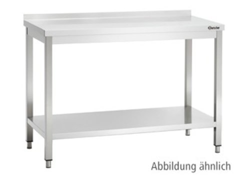 Bartscher Work Table with Back Stand 9 Formats