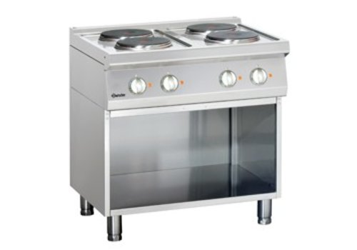 Bartscher Electric stove with open base | 4 people