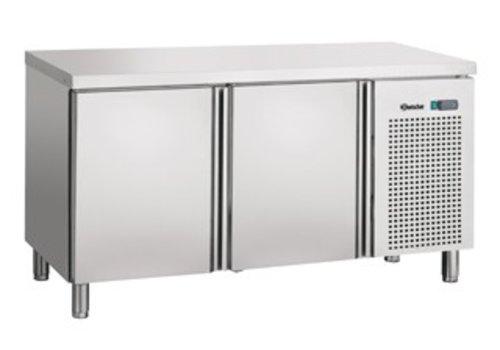 Bartscher Kühle Werkbank luftgekühlten Edelstahl   143 x 70 x 85 cm