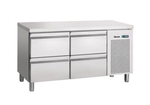 Bartscher Cool Workbench Stainless four drawers | 134 x 70 x 85 cm