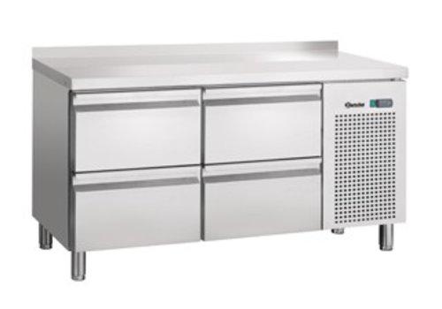 Bartscher Cool Workbench Stainless steel 4 drawers with weir | 134 x 70 x 85 cm