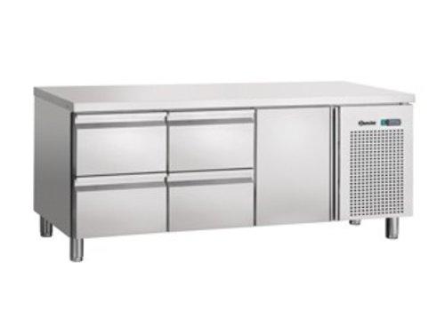 Bartscher Kühlen Sie Workbench Stainless | 1 Tür 4 Schubladen | 179 x 70 x 85 cm
