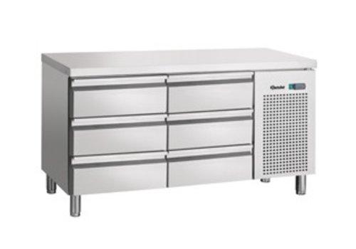 Bartscher Cool Workbench stainless steel 6 drawers | 134 x 70 x 85 cm