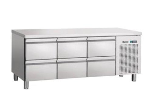 Bartscher Cool Workbench Stainless 6 drawers | 179 x 70 x 85 cm