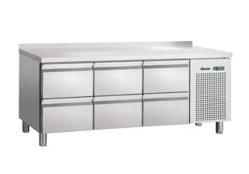 Bartscher SS Cooling Werkbank   6 Schubladen   Aufkantung   179 x 70 x 85 cm