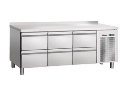 Bartscher SS Cooling Workbench | 6 drawers | backsplash | 179 x 70 x 85 cm