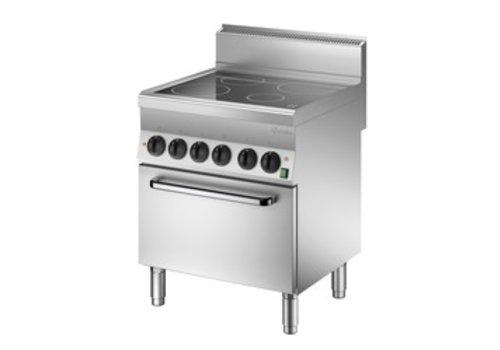 Bartscher Ceramic hob with electric oven | 4 cooking zones