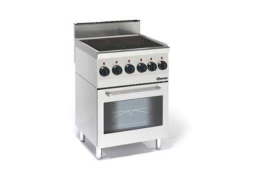 Bartscher Ceramic stove with oven | 4 cooking zones
