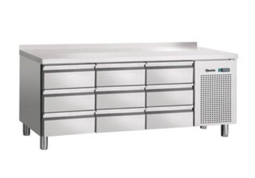 Bartscher Cool Workbench SS 9 drawers with weir | 180 x 70 x 85 cm