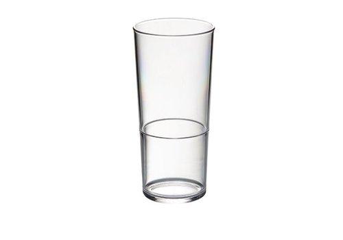HorecaTraders Plastic Beer Glass | BPA free 28cl