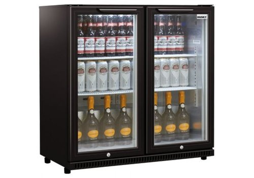 Husky Bar Kühler Schwarz C2-865-BK-NL-HU 186L