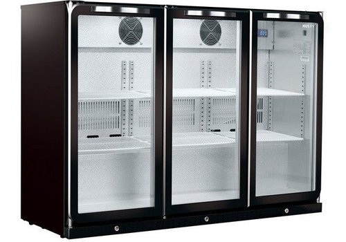 Husky subzero backbar cooler | 296 liters | 3 doors | C3ZZHBLACK Subzero