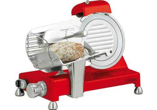 HorecaTraders Fleischschneidemaschine | 195mm | Rot
