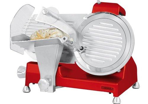 HorecaTraders Vleessnijmachine | 250mm | Rood