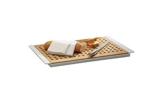HorecaTraders Bread cutting board 52x34x2 cm