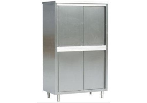 HorecaTraders Storage cabinet with sliding door 70 cm depth (3 sizes)