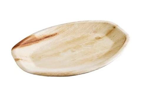 HorecaTraders Oval Einweg Palm Leaf Platten 36 x 24 cm Pro 100 Stück
