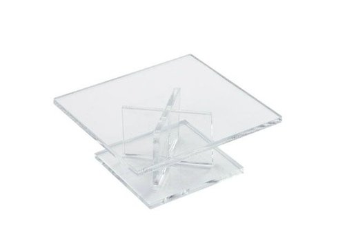 HorecaTraders Low Cake standard Square | 120 x 120 x 50 mm