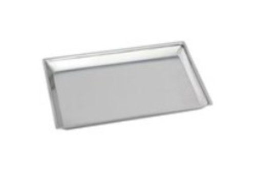 HorecaTraders Rectangular counter scale Stainless steel 18/8 | 29x21x2 cm
