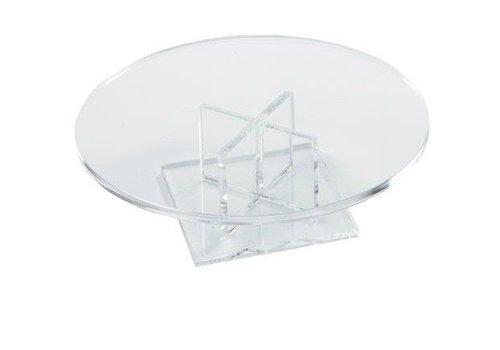 HorecaTraders Niedriger runder Kuchen-Stand 170 x 50 mm