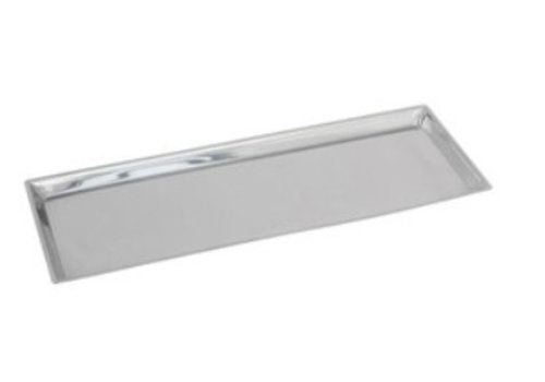 HorecaTraders Rectangular Counter Scale RVS 18/8 | 58x21x2 cm