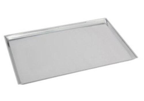 HorecaTraders Rechteckige Gegenskala RVS 18/8 | 58x40x2 cm