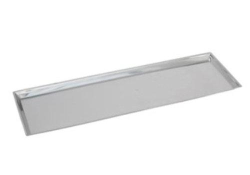 HorecaTraders Rechteckige Gegenskala RVS 18/8 | 68x21x2 cm