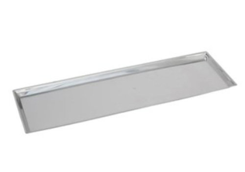 HorecaTraders Rechteckige Zählerskala Edelstahl 18/8 | 68x21x2 cm