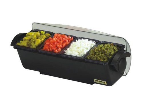 HorecaTraders Bar dispenser with handles 4 trays 6.6L