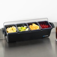 Bar Dispenser met handgrepen | 4 bakjes | 3,3L