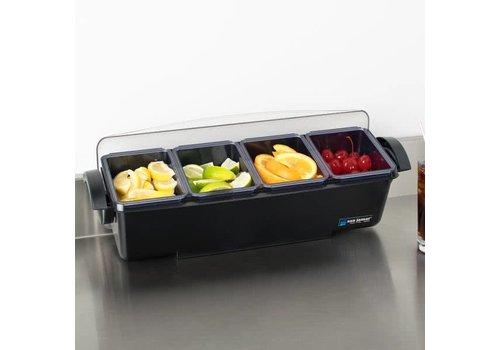 HorecaTraders Bar dispenser with handles 4 trays 3.3L