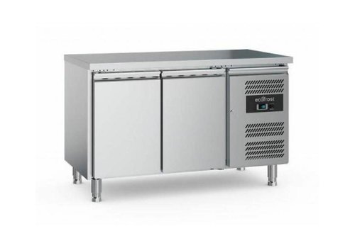Ecofrost Cooling workbench | Stainless steel | 282 L | 2 doors