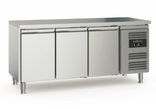 Ecofrost Cooling workbench | Stainless steel | 417L | 3 doors