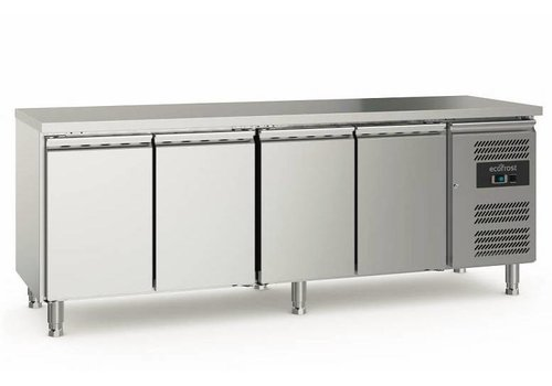 Ecofrost Cooling workbench | Stainless steel | 553L | 4 doors