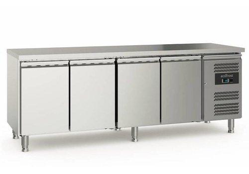 Ecofrost Kühlwerkbank | Edelstahl | 553L | 4 Türen
