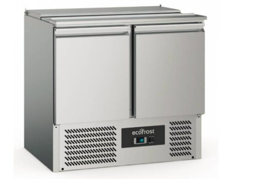 Ecofrost Saladette | Stainless steel | 240L | 2 doors