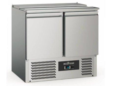 Ecofrost Stainless steel saladette   2 doors   240 liters