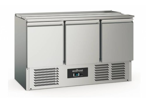 Ecofrost Saladette   Stainless steel   368L   3 doors