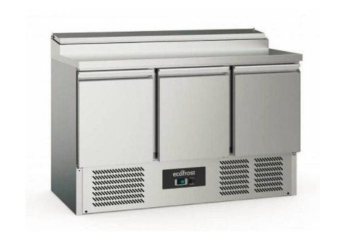 Ecofrost Saladette | Stainless steel | 392L | 3 doors