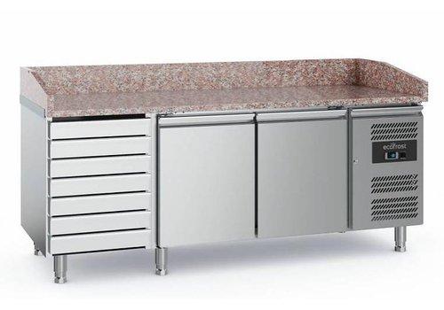 Ecofrost Pizzawerkbank | RVS | 2 deurs en 7 laden